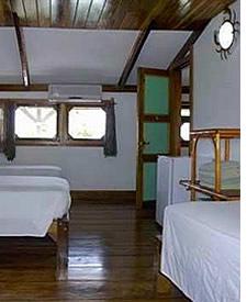 Kamer in Hotel Cala Luna in Bocas del Toro, Panama
